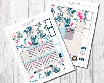 FLORAL CANDY Weekly Kit / Printable Planner Sticker / Erin Condren.