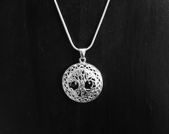 Filigree Tree Necklace w/ Snake Chain
