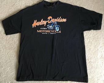 Vintage Harley Davidson Fatboy Motorcycle Shirt