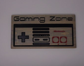 Gaming Zone Nintendo Original Controller Sign
