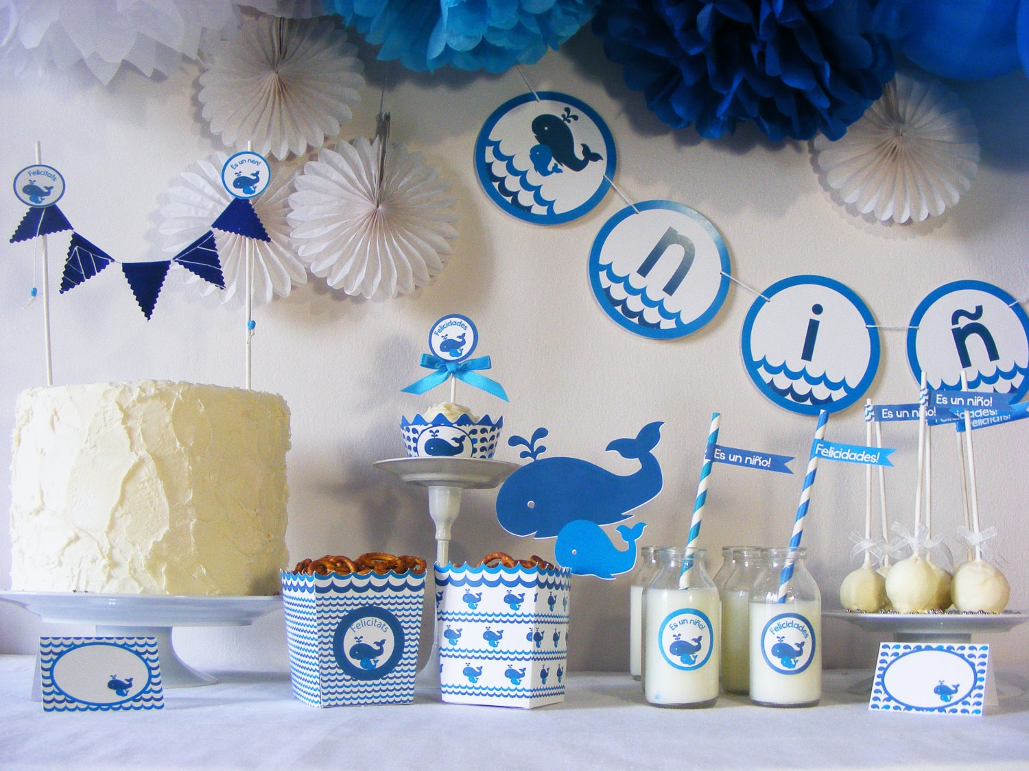 Baby Shower Party Package for 8. Ready to use.Printed Party