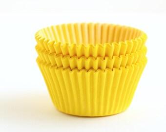 SALE: Yellow Cupcake Liners (100)