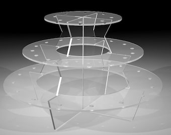 Push Pop Display Stand Acrylic 3 Tier 40 Hole for Push Pop Containers