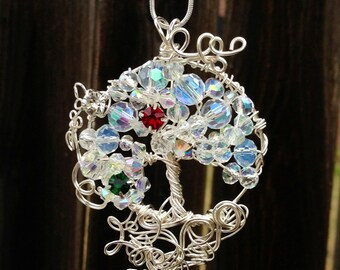 Birthstone Tree of Life Pendant