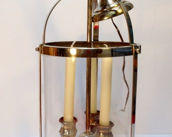 Chrome/glass antique French hanging light