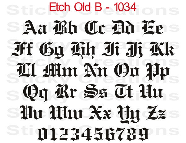 old english letters generator custom text etch bold font customized personalized 13003 | il fullxfull.700472822 lg3l