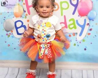 Sesame Street Birthday Outfit, Sesame Street Tutu, Birthday Outfit, Birthday Tutu, Sesame Street Shirt, Sesame Street Set