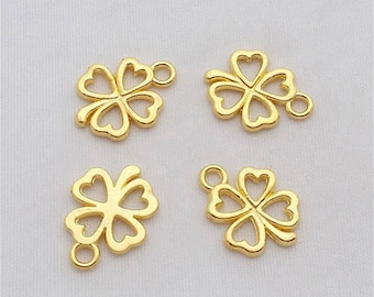 set of 10 4 leaf clover charms