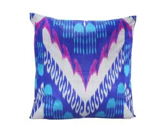 Ikat Pillow, Handmade Ikat Pillow Cover  IP135 (S207), Ikat throw pillows, Designer pillows, Decorative pillows, Accent pillows