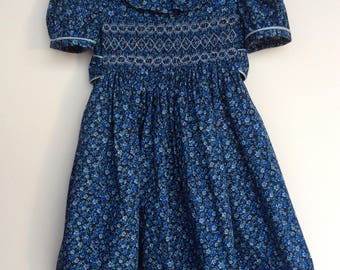 Girls hand smocked dress.