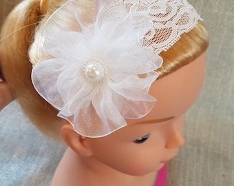 Wonderful white hair ribbons for girls