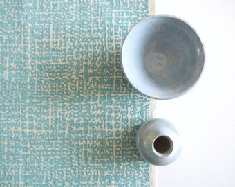 Formica - screen printed fabric hand screen printed fabric for patchwork, sewing, embroidery, crafting & framing in pastel colours/colors