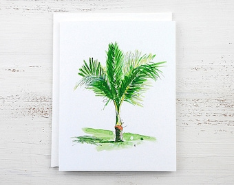Palm Tree Note Card - Panama