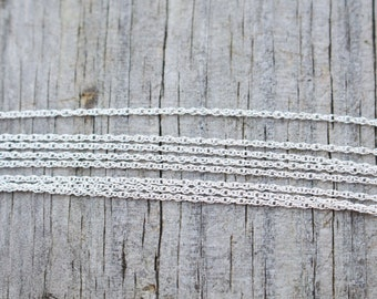 "20 Inch, Sterling Silver Chain, Silver Chain, 20 inch Chain, 20"", Long Chain, Long Silver Chain, Delicate Chain, Silver Chain 20 Inch"