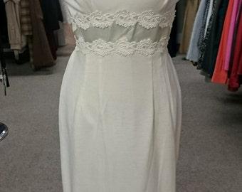 Vintage 1950's Winter White Wool Informal Wedding Dress!