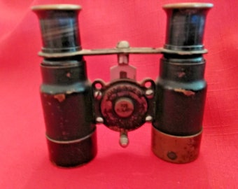 Antique Vintage Wollensak 6 X Biascope Binoculars / Opera Glasses