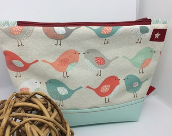 Pastel patterned toiletry bag