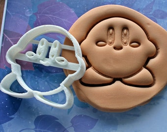 Super Mario Kirby Cookie Cutter Made From Biodegradable Material /  Made To Order / Brand New / Birthday / Boy / Girl / Party / Mold