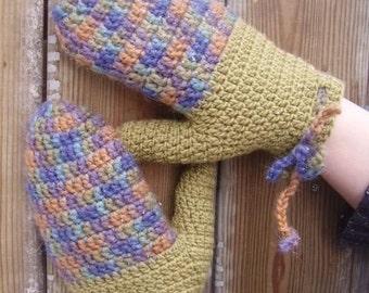 Percival top-down mittens - a crochet pattern