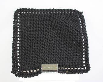 dishcloths, cotton dishcloths, hand knit dishcloths, knit dishcloths, black dishcloths, washcloths, hand knit washcloths, knit washcloths