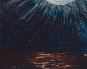 Moon Over Water Print (Giclee)