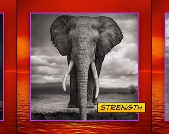 Comix Tiny Prayer Flag No. 22, Spirit Elephant
