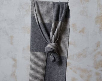 Maglia sciarpa di lana, ampio organico scialle di lana, Sciarpa unisex lana, sciarpa di inverno da lana, maglia scaldacollo in lana, grigio sciarpa di lana