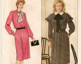 A Loose Fit, Elastic Waist, Side Pockets, Long Sleeve w/Capelet Variation Dress Pattern for Women: Uncut - Sizes 14-16-18 • Butterick 4682