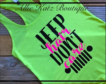 Jeep Hair Dont Care Racerback tank top