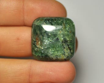 Natural Green Fluorite Cabochon Gemstone Square shape Ring size. 25x7 mm. 46.20 Cts