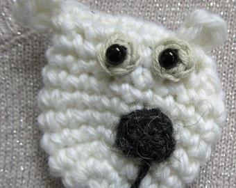Otto the Polar Bear Brooch