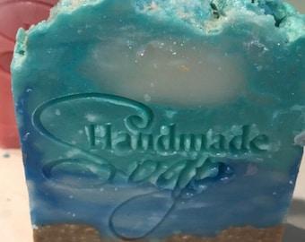 Sun & Sand Soap|Cocoa Butter Soap|Small Batch Cold Process Soap|Natural Soap|Handmade Pretty Soap|Vegetable-Based Soap