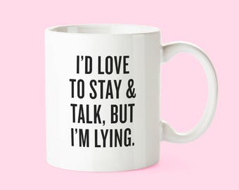I'm Lying | 11 oz. White Ceramic Coffee Work Mug