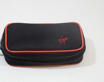 vintage virgin amenity bag - airline memorabilia - airline bag - amenity kit