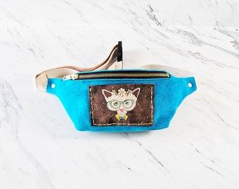 Leather Fanny Pack / Leather hip bag / Leather bum bag / Festival Bag / Unique Bag