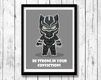 Inspired Mini Motivational-Be Strong in Your Convictions, Superhero wall art, kids room decor