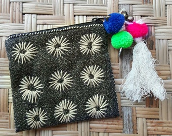 Handmade cotton coin purse