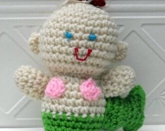 Crochet Plush Green Mermaid Doll