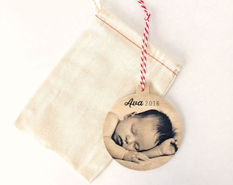 Baby Christmas Ornament Personalized, Personalized 1st Christmas Ornament, Christmas Ornament for Grandma, Eco Friendly Christmas Ornament