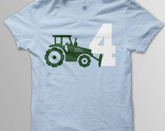 Adult Tractor shirt tractor theme construction birthday shirt birthday tractor birthday