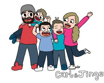 custom illustration, family portrait custom, custom illustration, couples portrait, family portrait, cartoon portrait, couple portrait