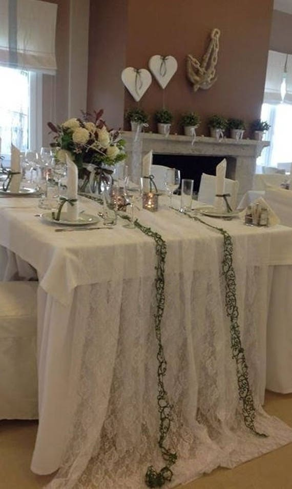 Lace Overlay Lace Tablecloth Wedding Table Overlay Table