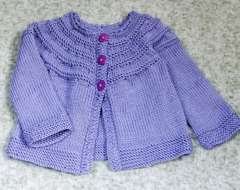 Toddler Girls Sweater - Purple Sweater for Baby Girls Size 3T