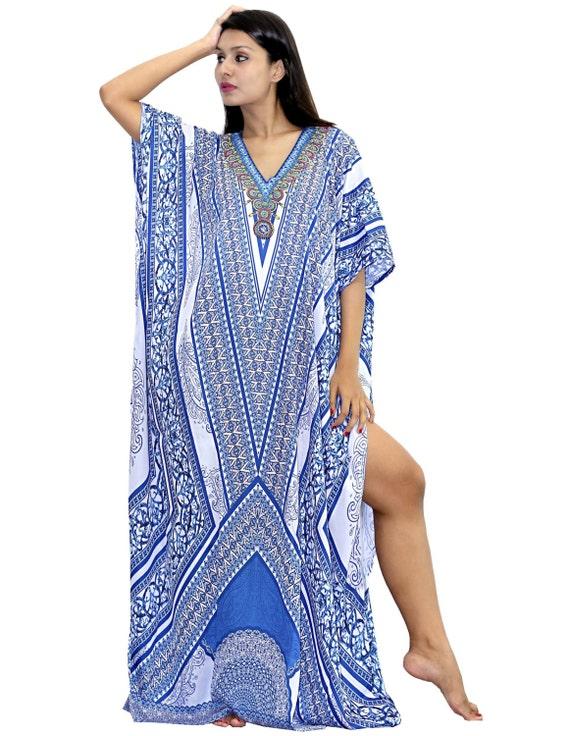 feel beach amp; embroider caftan Silk kaftan New look wear beaded kaftan 77 crystal 6Iwxgz