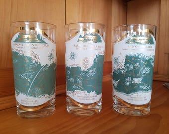 Vintage Golf Course Highball Glasses (Set of 3)