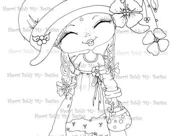 DESCARGA instantánea Digital Digi sellos ojo grande Big Head muñecas Digi Besties fantasía pantalones Little Pixie Bestie por Sherri Baldy