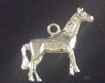 Sterling silver horse pony charm vintage # 175s