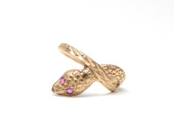 9k Ruby Snake Ring