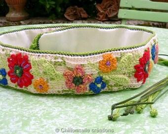 Women belt crochet creation unique, original designer belt, belt accessory, Chiffonnelle