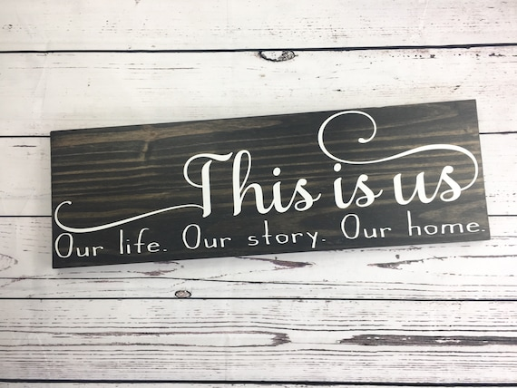 This Is Us Farmhouse Decor Wood Signs Home Decor Wood Rae Dunn